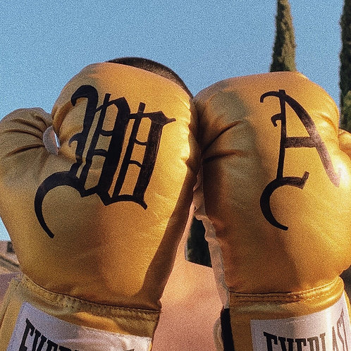"""""""THE WORLD IS YOURS..."""" GOLD EVERLAST® BOXING GLOVES"""