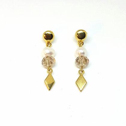 Pendientes perla oro