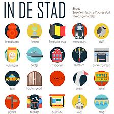 bingospel om een Vlaamse stad te ontdekken: Brugge, Mechelen, Gent, Lier, Leuven, Hasselt,...