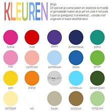 kleuren bingo voor kinderen