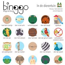 Bingo in de dierentuin of de zoo