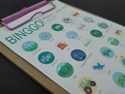 bingokaart in de wagen