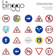 verkeersborden bingo spel