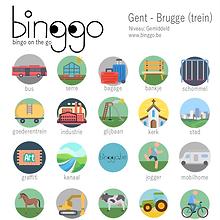 Gent Brugge spel op de trein kinderen