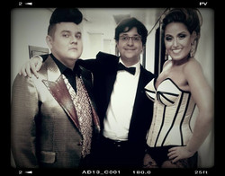 Com Adrina Clis e André Vidal