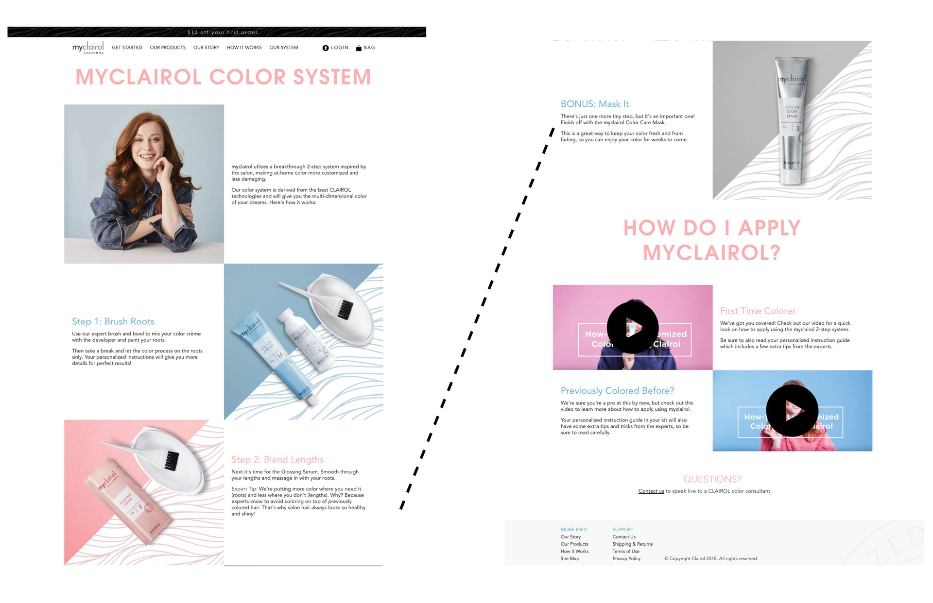 my clairol how it works page