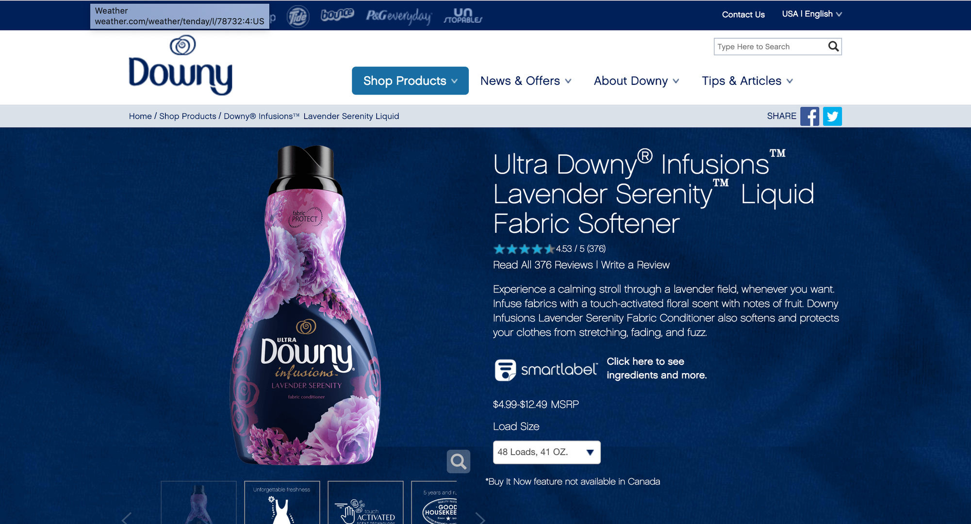 Downy Infusions Site 1