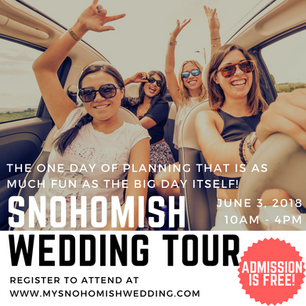 5 Reasons You Need To Do The Snohomish Wedding Tour on June 3, 2018
