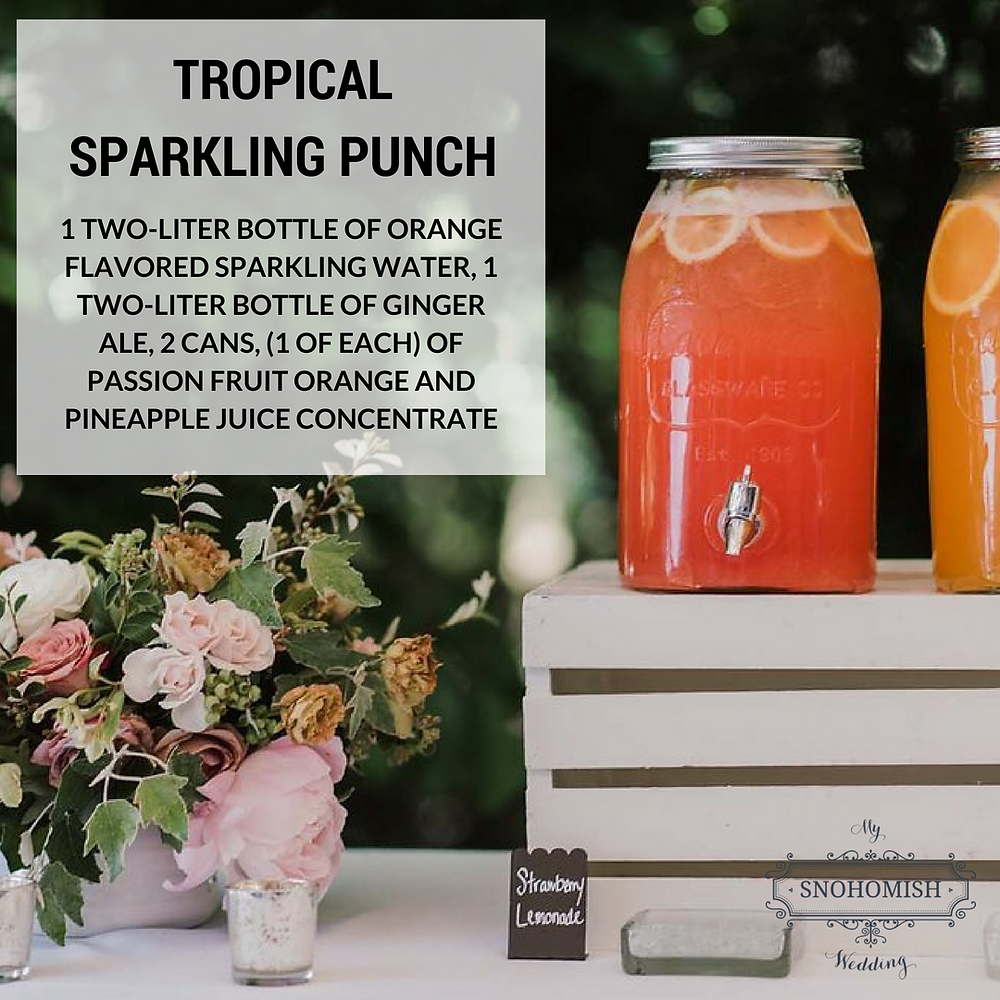 Tropical Sparkling Punch Recipe by Twelve Baskets Catering