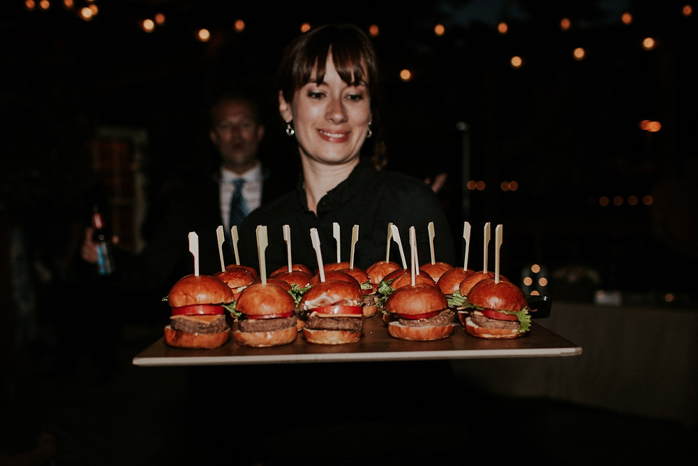 sliders passed around at snohomish wedding