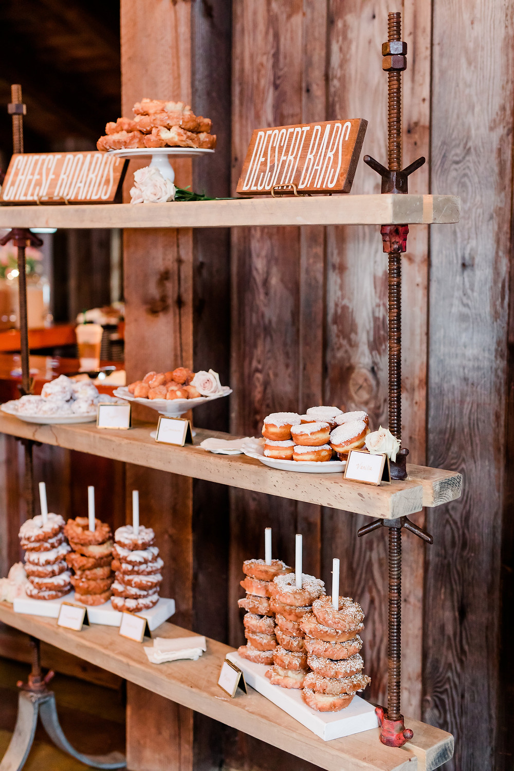 donut bar at snohomish wedding by happy camper cocktail company