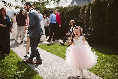 Belle chapel outdoor wedding reception