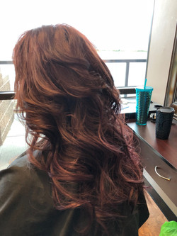 Hair with Extensions Styled
