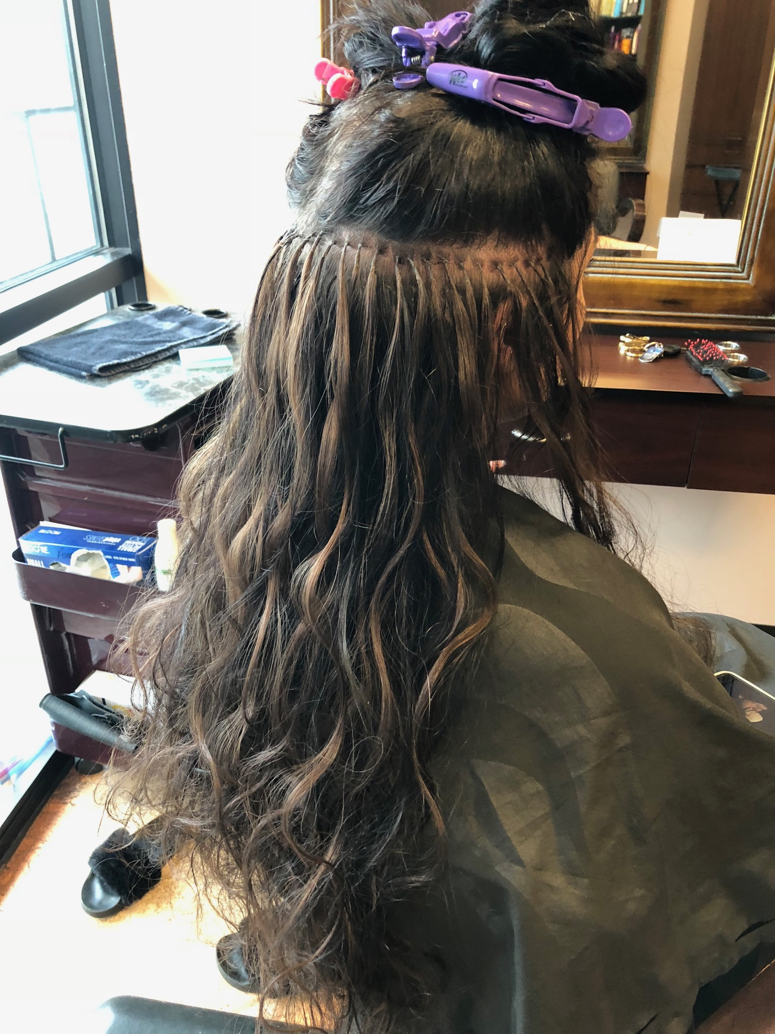 Bonded Hair Extension Application