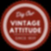 Dig our vintage attitude badge
