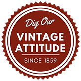 Dig our vintage attitude badge