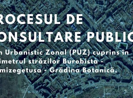 """Anunț privind consultarea publică a """"PUZ BUREBISTA"""""""