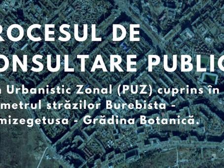 Объявление о проведении общественных консультаций по «PUZ BUREBISTA»