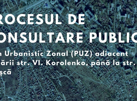 Anunț privind consultarea publică a PUZ Korolenko