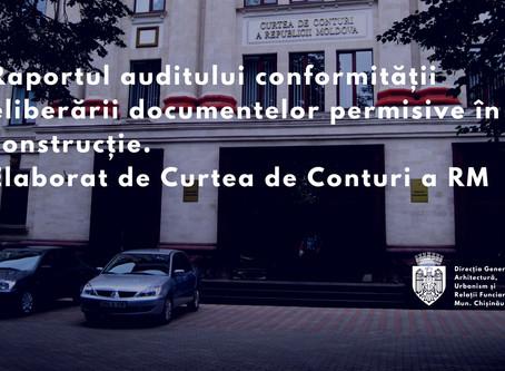 CCRM a examinat Raportul auditului conformității eliberării documentelor permisive în construcție