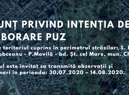 Объявление о разработке PUZ Лазо - Штефан чел Маре