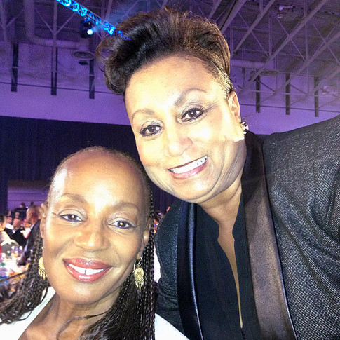 Essence Magazine Publisher Susan Taylor with Mary Kennedy