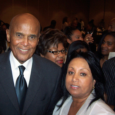 Actor Harry Belafonte with Mary Kennedy