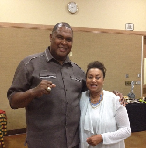 Former San Francisco 49er Bubba Paris with Mary Kennedy