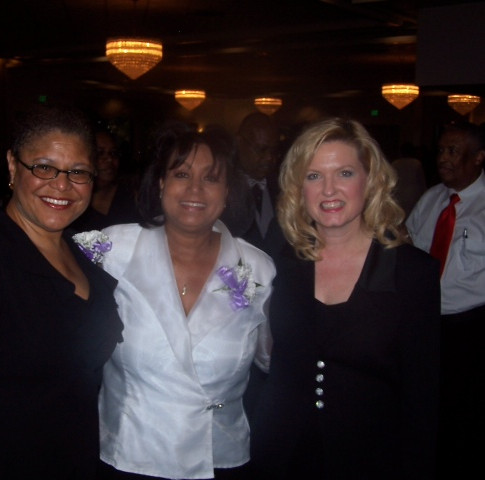 Senator Kathleen Galigiani and Congresswoman Karen Bass with Mary Kennedy