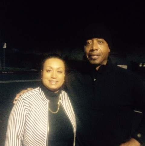 Rapper and dancer MC Hammer with Mary Kennedy