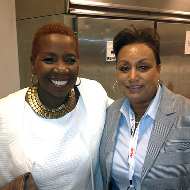 Life Coach from the OWN Network Iyania Vanzant with Mary Kennedy
