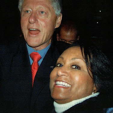 Former President Clinton with Mary Kennedy