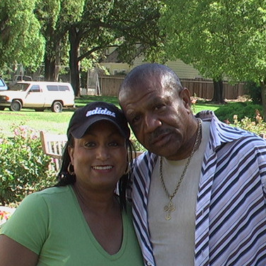 Singer Lenny Williams with Mary Kennedy