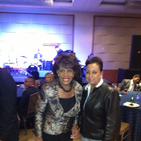 Congresswoman Maxine Waters with Mary Kennedy