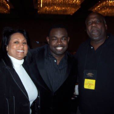 Comic Rodney Perry and husband Oneal with Mary Kennedy