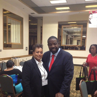 Motivational Speaker Les Brown with Mary Kennedy
