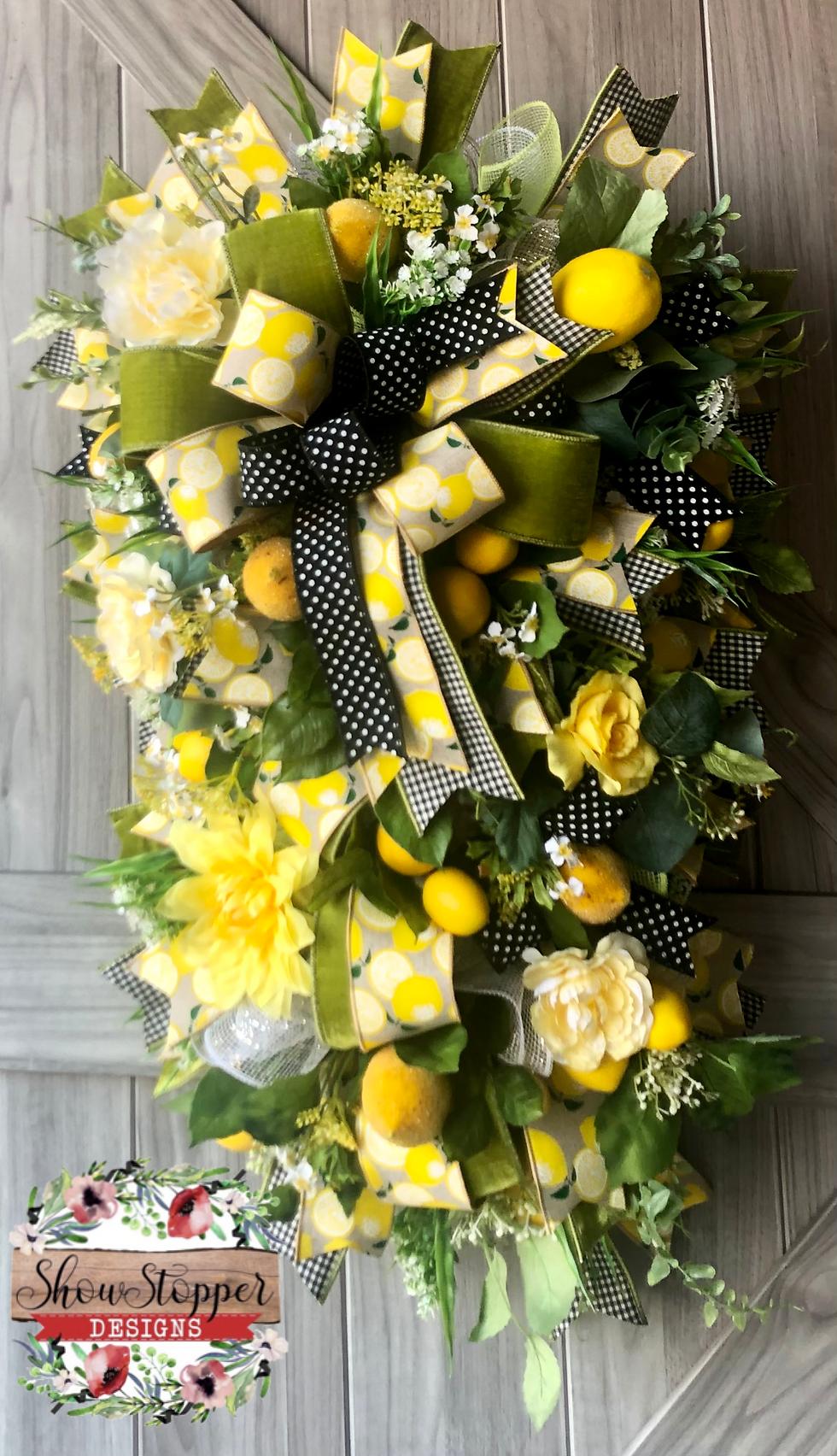 Lemon Door Swag