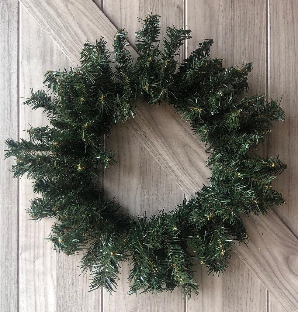 "24"" Faux Evergreen Wreath"