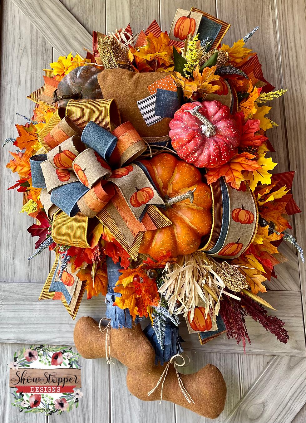 Fall Scarecrow Door Wreath