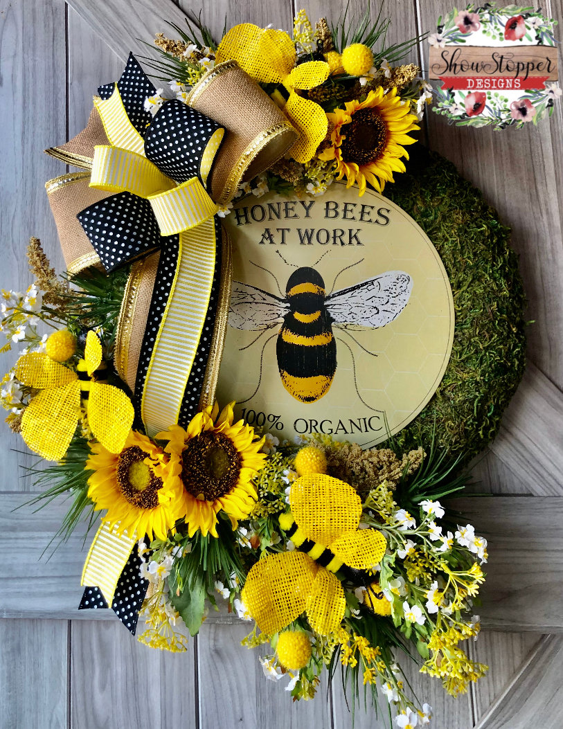 Bee Door Wreath
