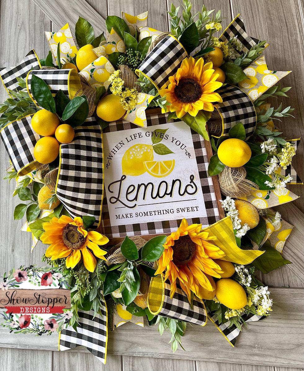 Lemon Door Wreath