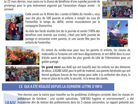 Lettre d'information n°2 - mai 2019