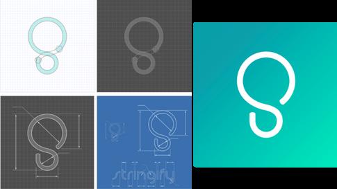 Stringify Logo Evolution