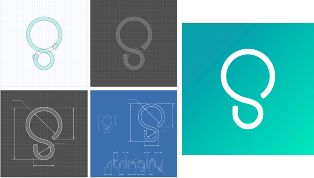 Stringify Logo Evolution
