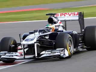 Luciano Bacheta drives Williams F1 car at Silverstone