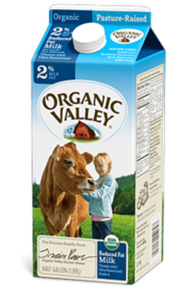 Organic 2% Milk, half gallon