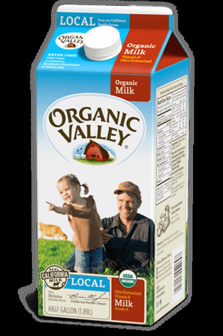 Organic Whole Milk, half gallon