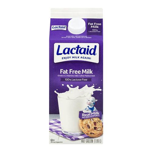 Lactaid Fat Free Milk, half gallon