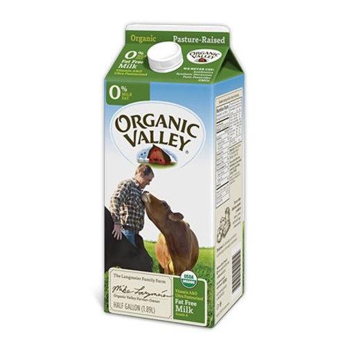 Organic Fat Free Skim Milk, half gallon