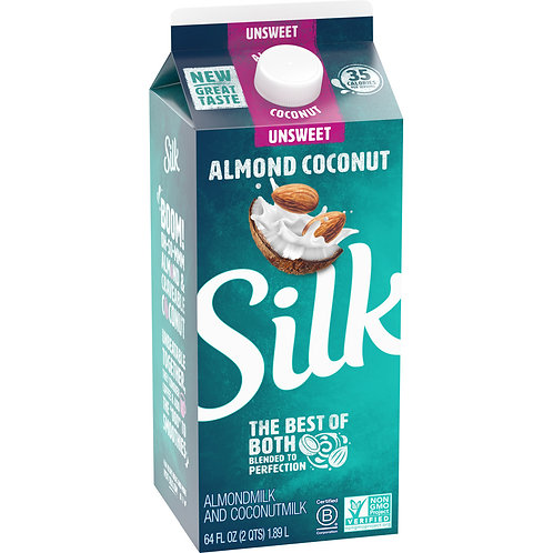 Silk Almond Coconut Milk Unsweetened, half gallon